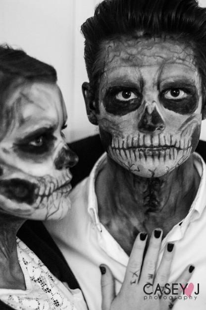 Halloween Makeup, Lady gaga, skeleton boy, Casey Doxey, Casey J photography