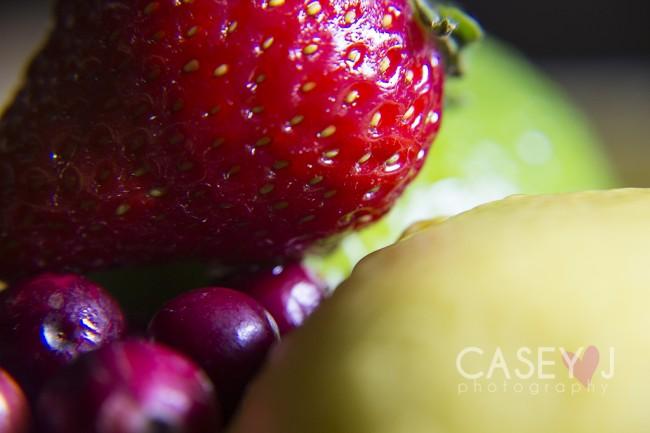 Casey J Photography, macro photography, still life macro, Fresh fruit photography, macro fruit